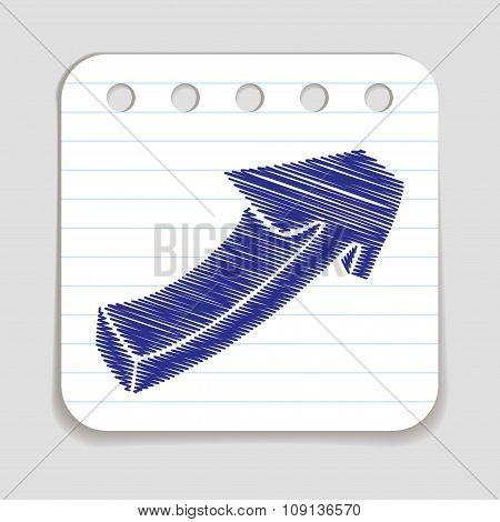 Doodle Arrow icon.