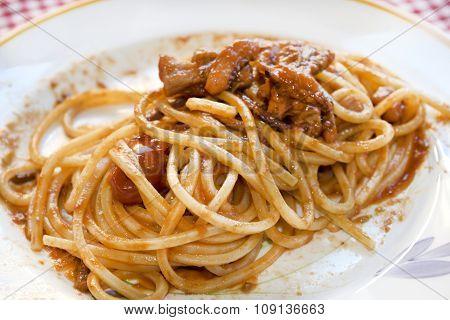 Spaghetti With Squid Sauce