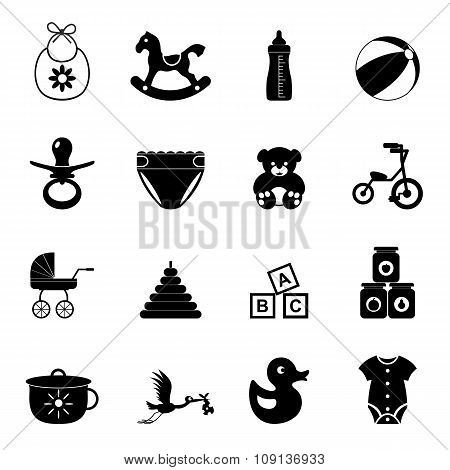 Baby simple icon set