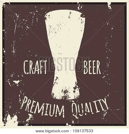 Beer. Drawing by hand.
