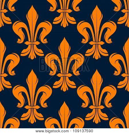 Seamless victorian fleur-de-lis flowers pattern