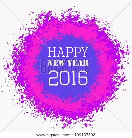 Happy New Year Colorful Greeting