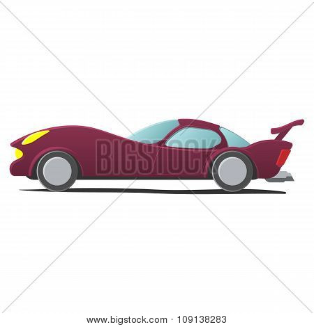 Cartoon sportscar illustration