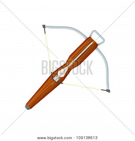 Flat Style Colored Medieval Crossbow Arrow Icon Illustration.