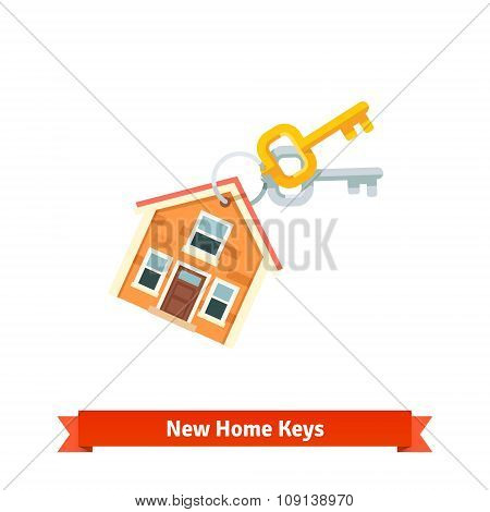 House keychain symbolising purchase of a new home