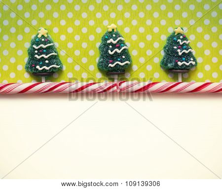 Christmas background with candies