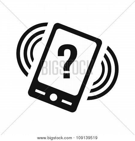 Phone with question