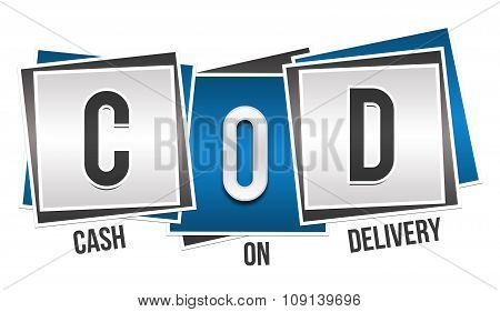 COD - Cash On Delivery Blue Grey Blocks