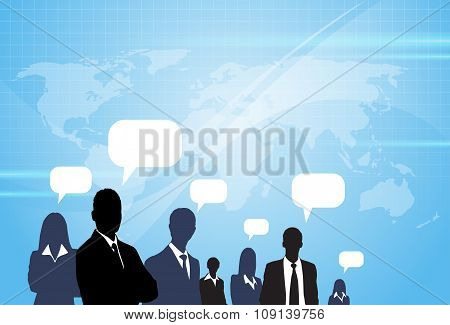 Business People Consulting Group Talking Discussing Chat Communication Social Network