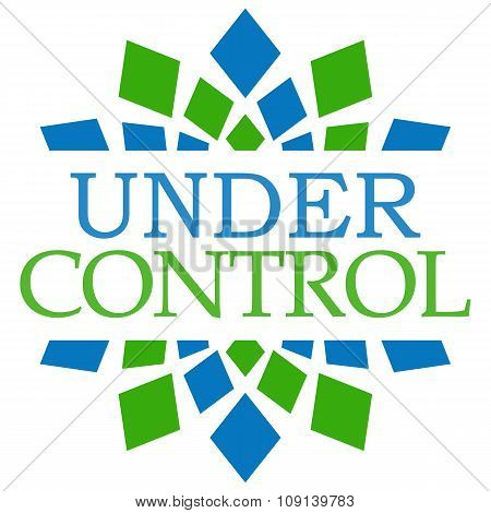 Under Control Blue Green Square Elements