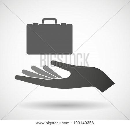 Isolated Vector Hand Giving  A Breiefcase