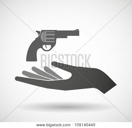 Isolated Vector Hand Giving A Gun