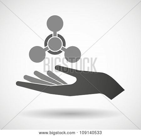 Isolated Vector Hand Giving A Chemical Weapon Sign