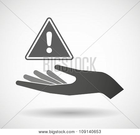 Isolated Vector Hand Giving A Warning Signal