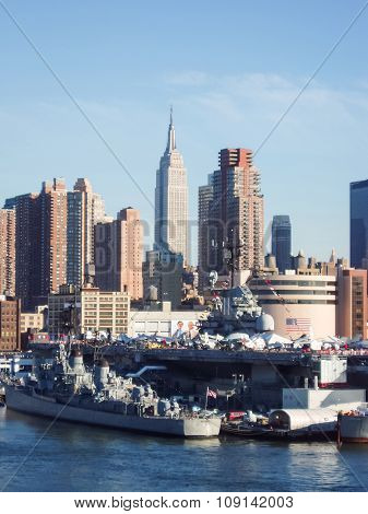Intrepid Museum And Empire State Building