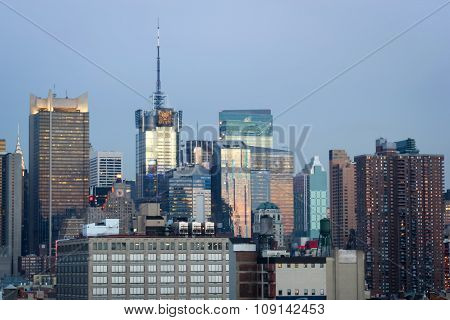 Midtown Manhattan Urban Skyline