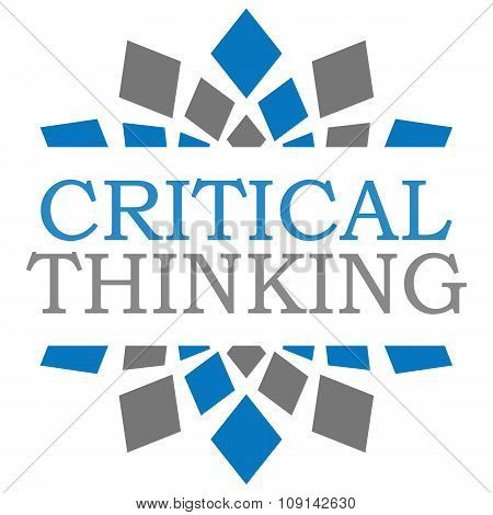 Critical Thinking Blue Grey Squares Element Square