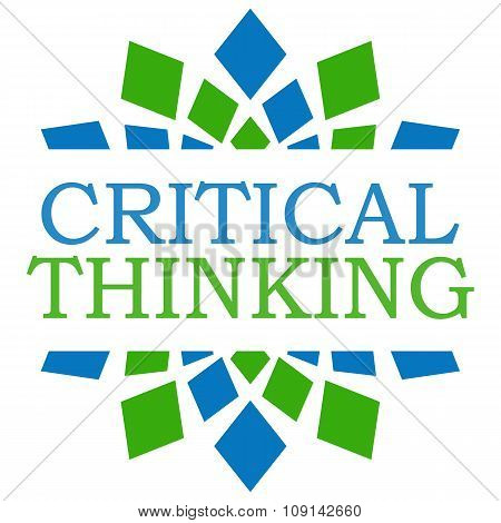Critical Thinking Green Blue Squares Element Square