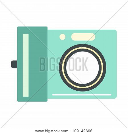 Portable camera flat icon