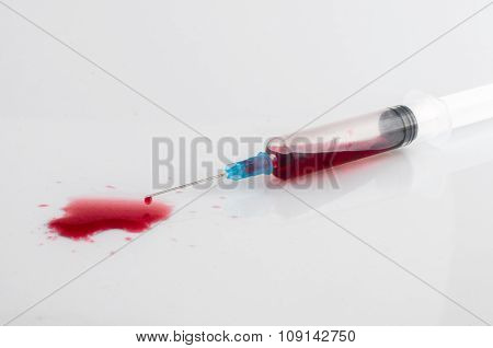 Syringe With Blood