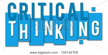 Critical Thinking Blue Stripes