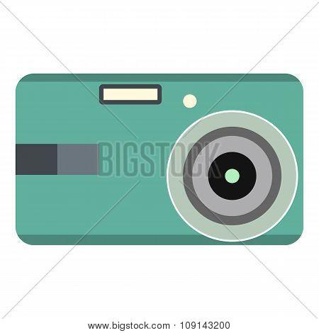 Unique camera flat icon