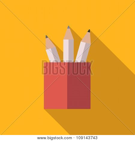 Pencil set in a glass
