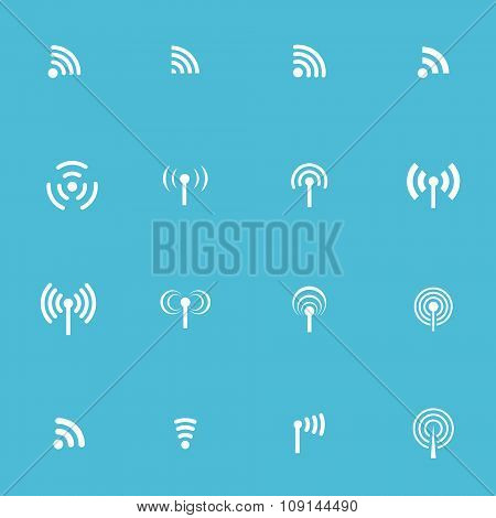Set Of Sixteen Vector Wireless Icons