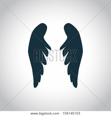 Angel wings silhouette