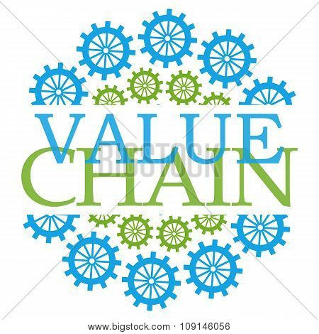 Value Chains Green Blue Gears