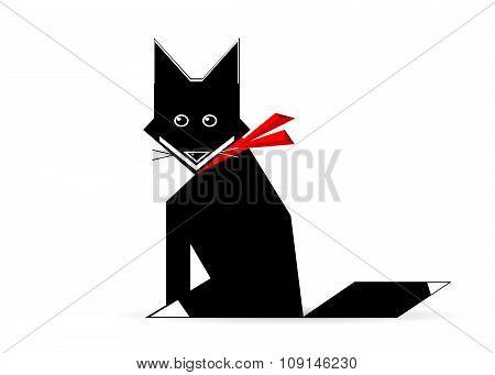 icon black cat.