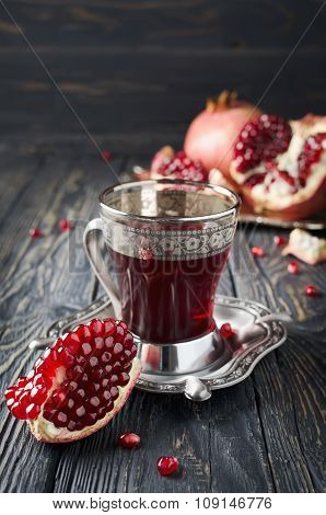 Pomegranate Juice And Pomegranate