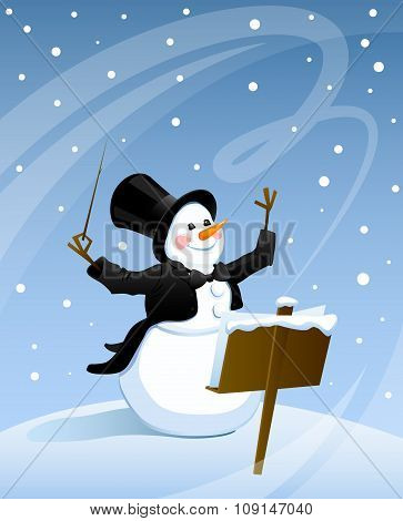 Snowman conductor