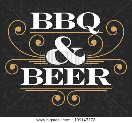 Barbecue & Beer Emblem