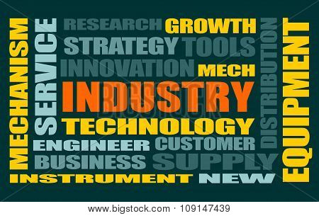 Industry word cloud concept