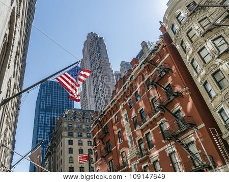 American Flag In New York