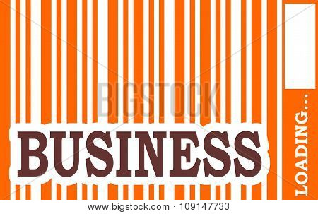 Business word build in bar code