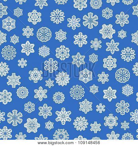 Snow Flakes Background Seamless