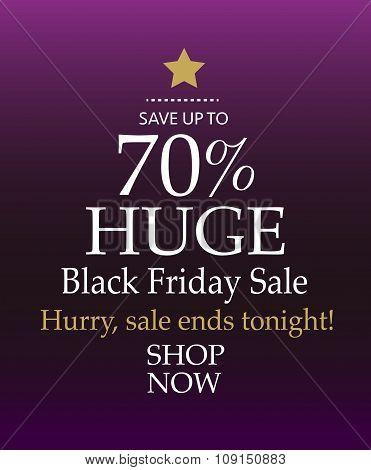 Huge 70% Black Friday Sale. Shop Now. Christmas Tree