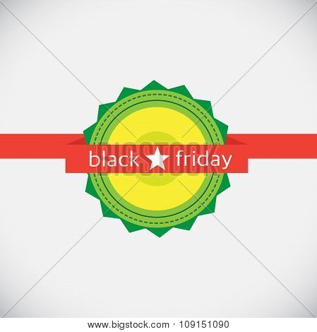 Black Friday Emblem Isolated On Gray. Final Sale.