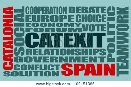 Catalonia exit from Spain. Catexit