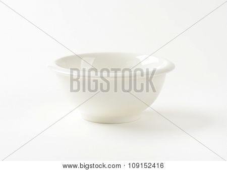Small round white sauce bowl