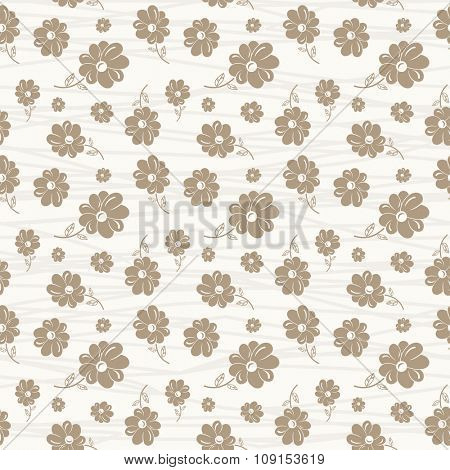 classic wallpaper seamless vintage flower pattern on white background