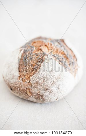Bread Loaf Close Up In Selective Focus