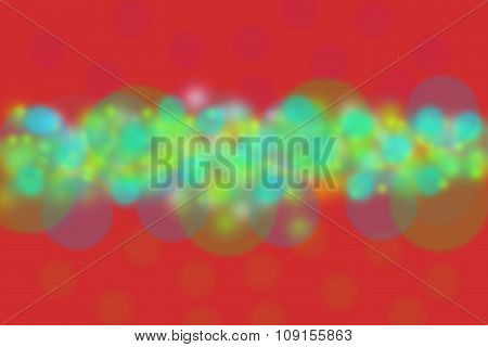 Abstract Red Background With Colorful Circles