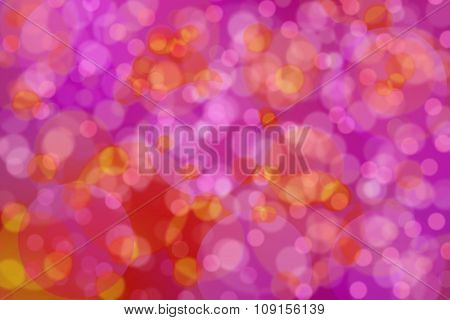 Abstract Pink Background With Yellow And Red Circles