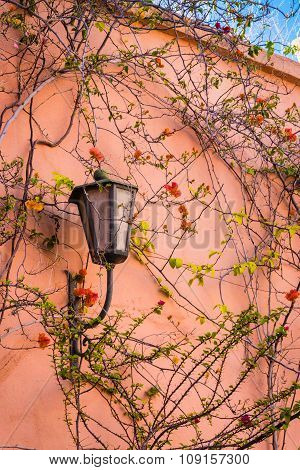 Lamp On The Wall In The Marrakech Medina