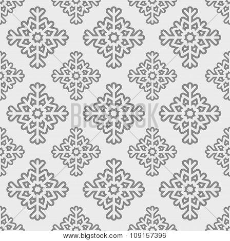 Vector Seamless Snowflake Pattern