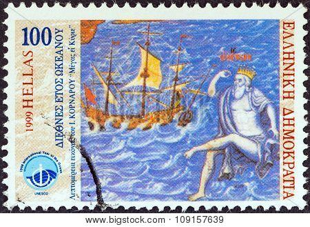 GREECE - CIRCA 1999: A stamp printed in Greece from the