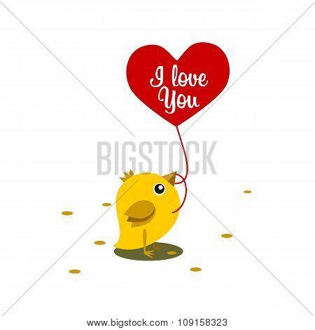 Chicken Eat Grain Valentine Day